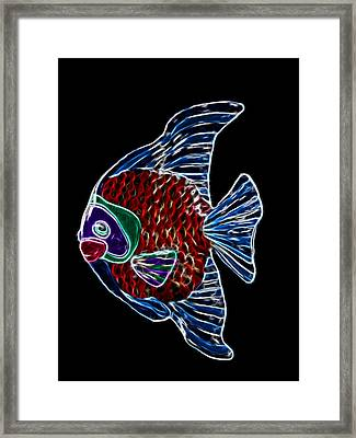 Fish Tales Framed Print by Shane Bechler