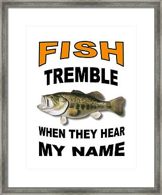 Fish Tremble Framed Print