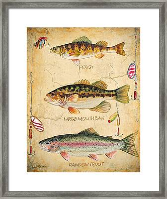 Fish Trio-b Framed Print by Jean Plout