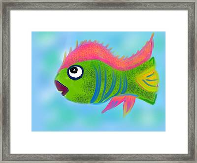 Framed Print featuring the digital art Fish Wish by Christine Fournier