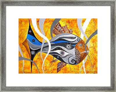 Fish Xi - Marucii Framed Print