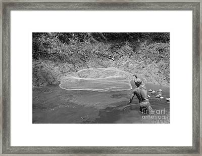 Fisher Man  Framed Print by Bobby Mandal