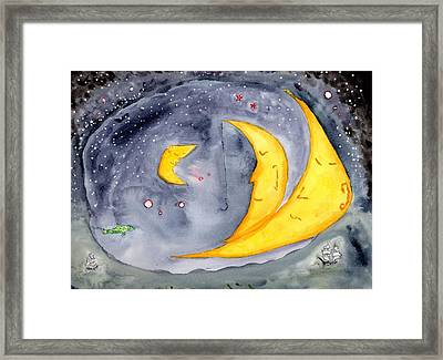 Fisher Moon Framed Print