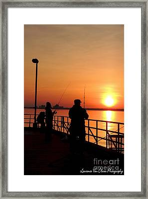 Fisher Sun Framed Print by Laurence Oliver