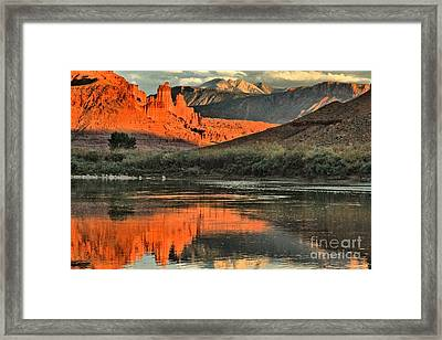 Fisher Towers In The Colorado Framed Print by Adam Jewell