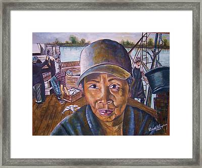 Fisher Woman Framed Print by Linda Vaughon