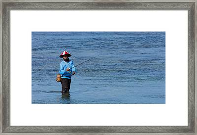 Fisherman - Bali Framed Print