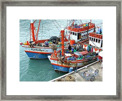 Framed Print featuring the photograph Fisherman by Andrea Anderegg
