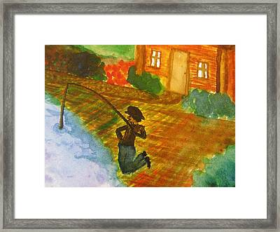 Fisherman Framed Print by Debbie Nester