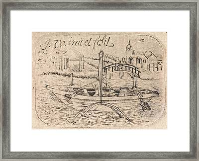 Fisherman In His Boat, Isaac Walraven Framed Print
