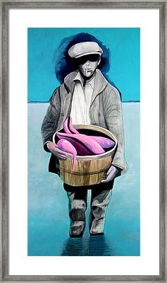 Fisherman Framed Print by Michael Pittman