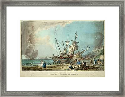 Fisherman Of Brighton Framed Print by British Library