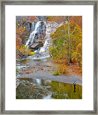 Fisherman One With Nature Framed Print by Frozen in Time Fine Art Photography