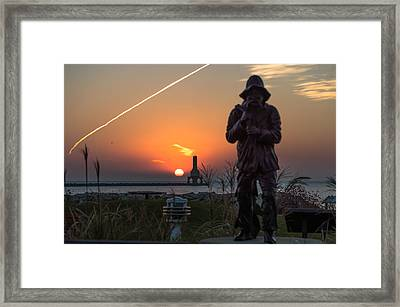 Fisherman Sunrise Framed Print