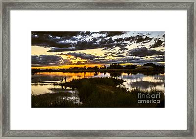 Fisherman Sunset Framed Print by Robert Bales