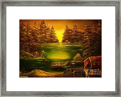 Fishermans Cabin-original Sold- Buy Giclee Print Nr 32 Of Limited Edition Of 40 Prints  Framed Print by Eddie Michael Beck