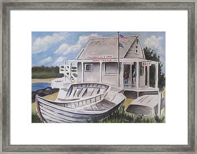 Fishermans Cove  Framed Print by Melinda Saminski