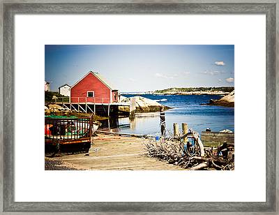 Fisherman's Cove Framed Print by Sara Frank