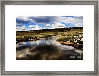 Fishermans Creek Framed Print by Edward R Wisell