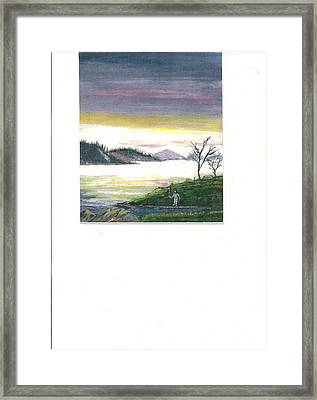 Fisherman's Dream Of Mountains And His Little Corner.           Framed Print by June Reynolds