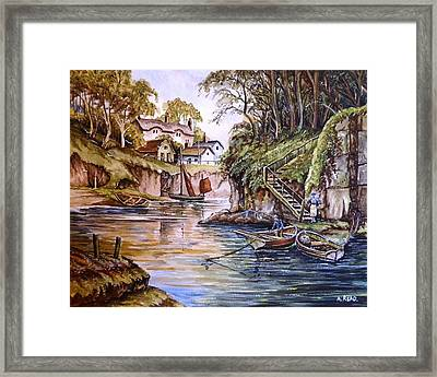 Fisherman's Hideaway Framed Print by Andrew Read