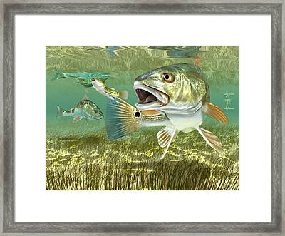 Fisherman's Post Redfish Framed Print
