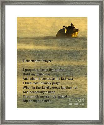 Fisherman's Prayer Framed Print by Robert Frederick