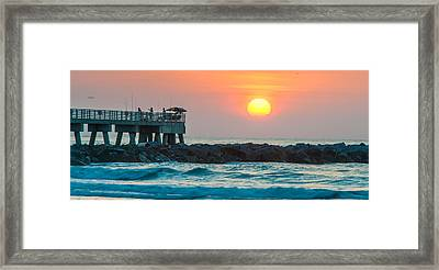 Fisherman's Sunrise Framed Print by Cliff C Morris Jr