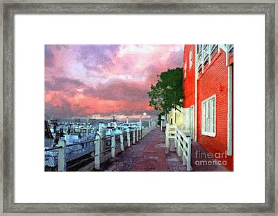 Framed Print featuring the photograph Fisherman's Village Marina Del Mar Ca by David Zanzinger