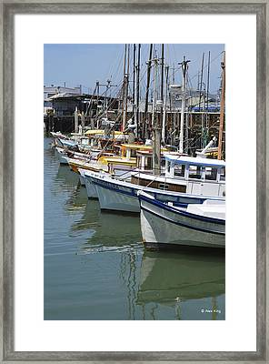 Fishermans Wharf Framed Print by Alex King