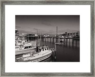 Fisherman's Wharf Boats Framed Print by James Canning