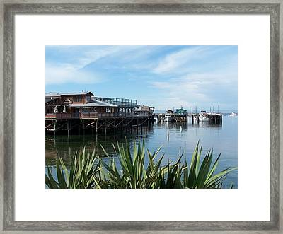 Fishermans Wharf Framed Print
