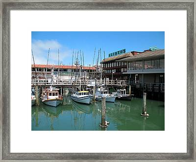 Framed Print featuring the photograph Fishermans Wharf by Connie Fox