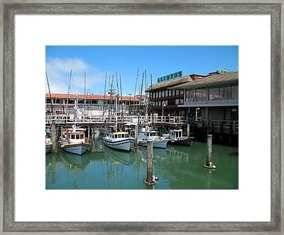 Fishermans Wharf Framed Print by Connie Fox