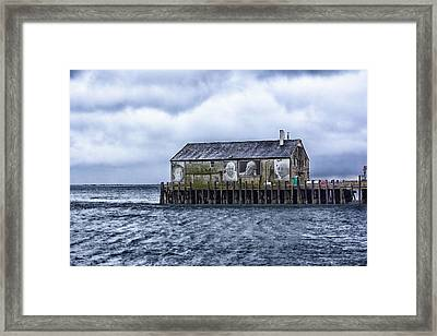 Framed Print featuring the photograph Fishermans Wharf Provincetown Harbor by Constantine Gregory