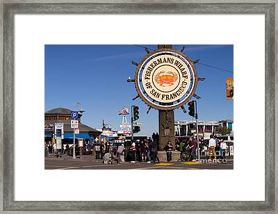 Fishermans Wharf San Francisco California Dsc2032 Framed Print by Wingsdomain Art and Photography