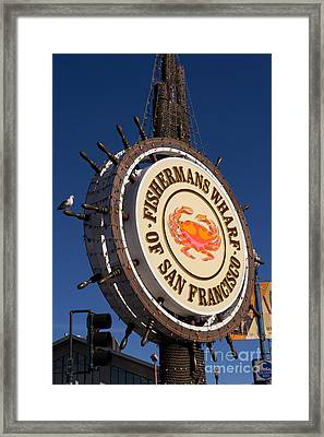 Fishermans Wharf San Francisco California Dsc2044 Framed Print by Wingsdomain Art and Photography