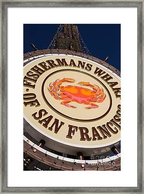 Fishermans Wharf San Francisco California Dsc2046 Framed Print by Wingsdomain Art and Photography
