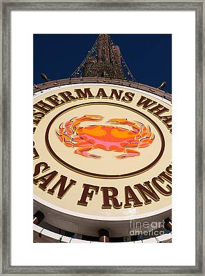 Fishermans Wharf San Francisco California Dsc2048 Framed Print by Wingsdomain Art and Photography