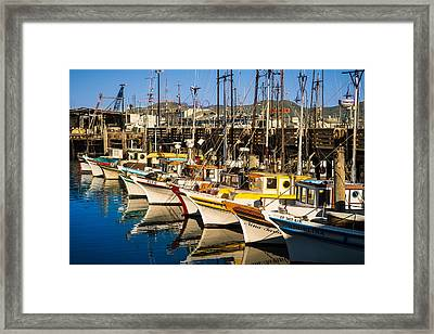 Fishermans Wharf San Francisco Framed Print