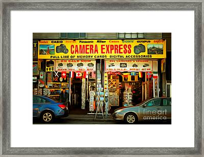 Fishermans Wharf Tourist Shop 7d14096brun Framed Print by Wingsdomain Art and Photography