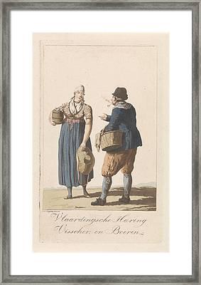 Fishermen From Vlaardingen, The Netherlands Framed Print by Jan Anthonie Langendijk Dzn