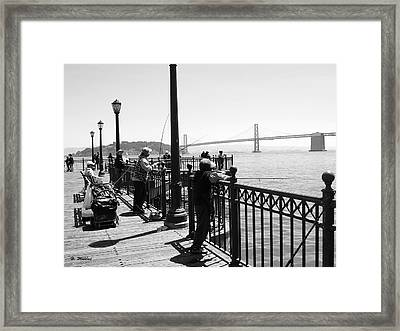 Framed Print featuring the photograph San Francisco - Fishing At The Pier by Haleh Mahbod