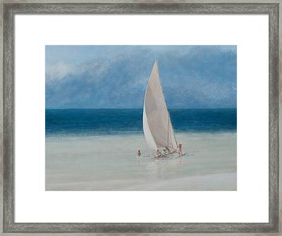 Fishermen Kilifi Framed Print by Lincoln Seligman