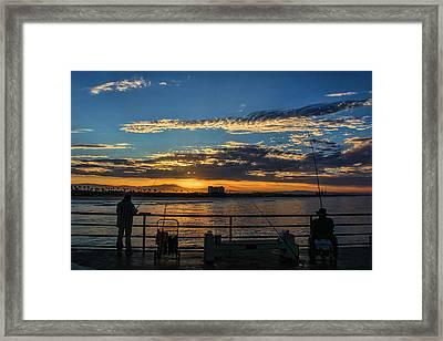 Fishermen Morning Framed Print