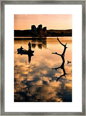 Framed Print featuring the photograph Fishermen by Okan YILMAZ