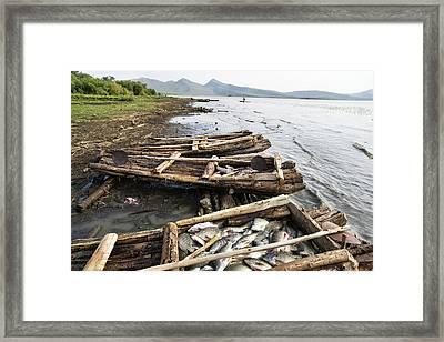 Fishermen On Lake Chamo, Arba Minch Framed Print