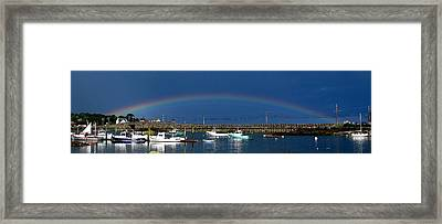 Fishermen's Rainbow Framed Print