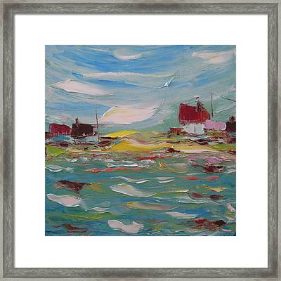 Fishers Bay Framed Print by Solomoon Art Studio
