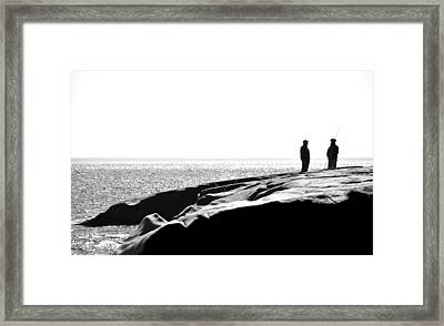 Fishers By The Sea Framed Print by Matthew Blum